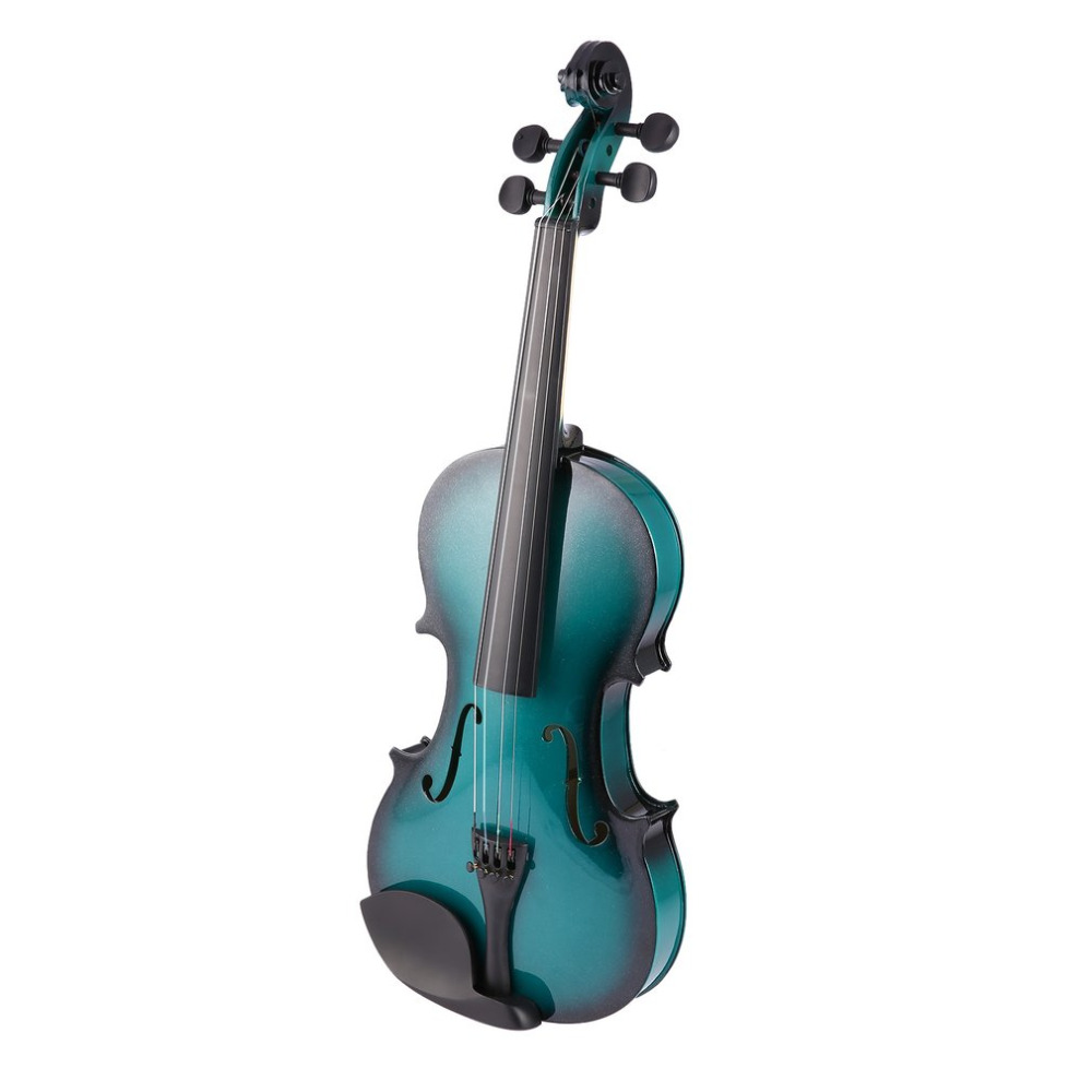Full Size 4/4 Solid Wood Violin Kit with Portable Hard Case Ebony Fingerboard Pegs Chin Rest Musical Instruments Players Gifts
