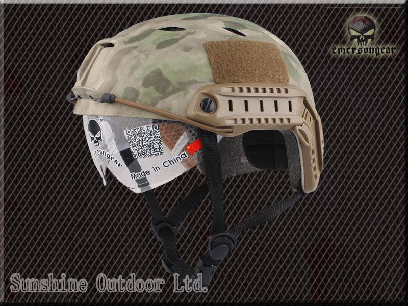 Emerson gear FAST Helmet With Protective Goggle BJ Type Helmet tactical Army Helmet AT FG