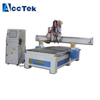Precio de descuento máquina de tallado de madera 3d para la venta/máquina de carpintería de tres procesos precio/Router CNC con cabezas múltiples