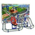 Brinquedo do carro ferroviário 3D Multicamada Dois-camada Espiral Brinquedo Brinquedos Trem Elétrico Pista Roller Coaster Com Pacote de Presente Melhor Presente da criança