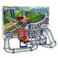 Vagones de ferrocarril de Juguete 3D de Múltiples Capas de Dos capas Espiral Juguete de la Montaña Rusa Pista Del Tren Eléctrico Juguetes Con El Paquete de Regalo Mejor Regalo del niño