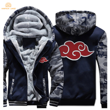 Anime Naruto Uzumaki Fashion Mens Hoodies 2019 Hot Sale Winter Warm Fleece High Quality Sweatshirt Brand Hoody Streetwear
