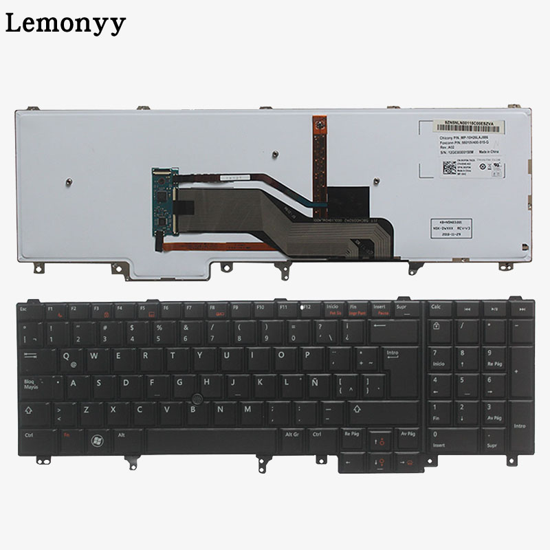 Latin Laptop Keyboard For DELL E6520 Teclado E6530 E6540 <font><b>E5520</b></font> E5520M E5530 with Backlit Pointer image