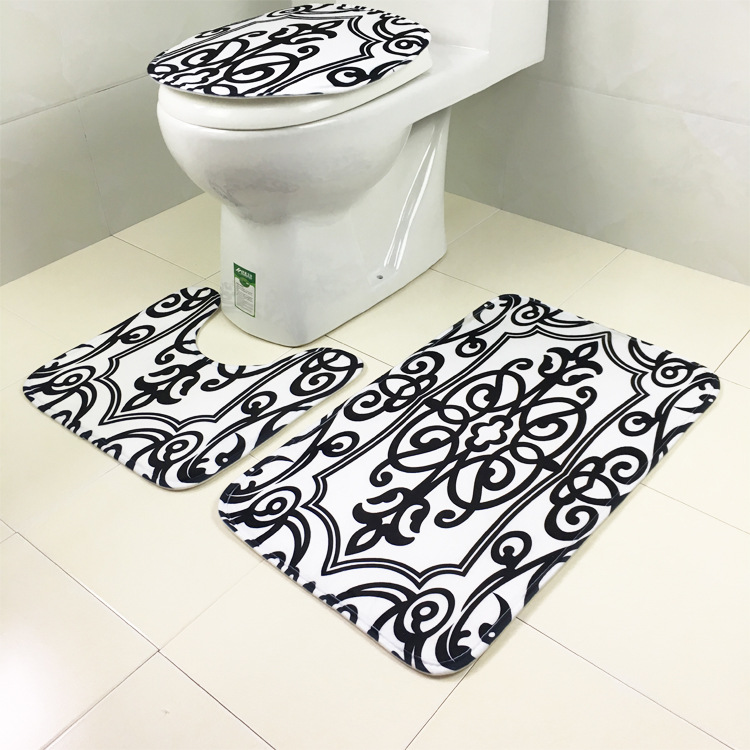 3pcs/set Cheap Floral Leopard Pattern Bath Mats Set Non Slip Bathroom  Toilet Rugs Close Stool Seat Cover Bath Mat Carpet In Bath Mats From Home U0026  Garden On ...