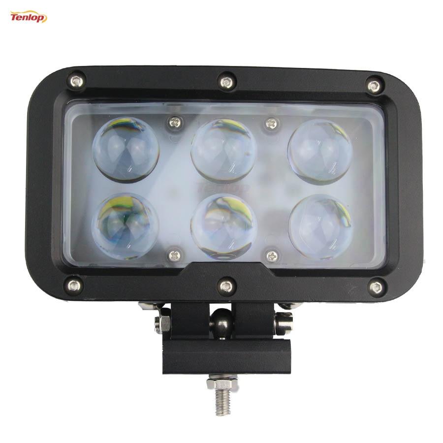 Hot Sale 7 Inch 60W LED Work Light Black For Offroad Wrangler 4*4 SUV ATV Tractor