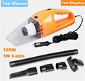 50 pcs/lot Portable Car Vacuum Cleaner Hand Held Wet and Dry dual-use Auto Cigarette Lighter Hepa Filter 5M Wire 120W 12V Orange