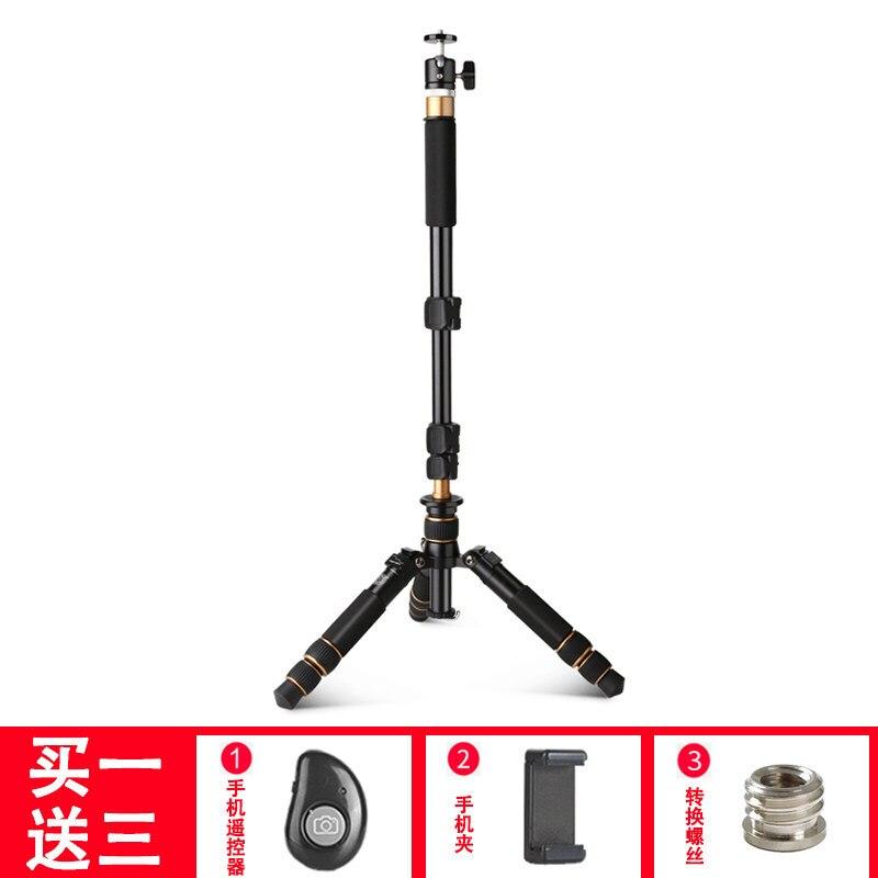 Q166A vysoce kvalitní hliníkové stolní stativ přenosné mini stativ 2 sekce flexibilní stativ použití s hlavou a monopdod