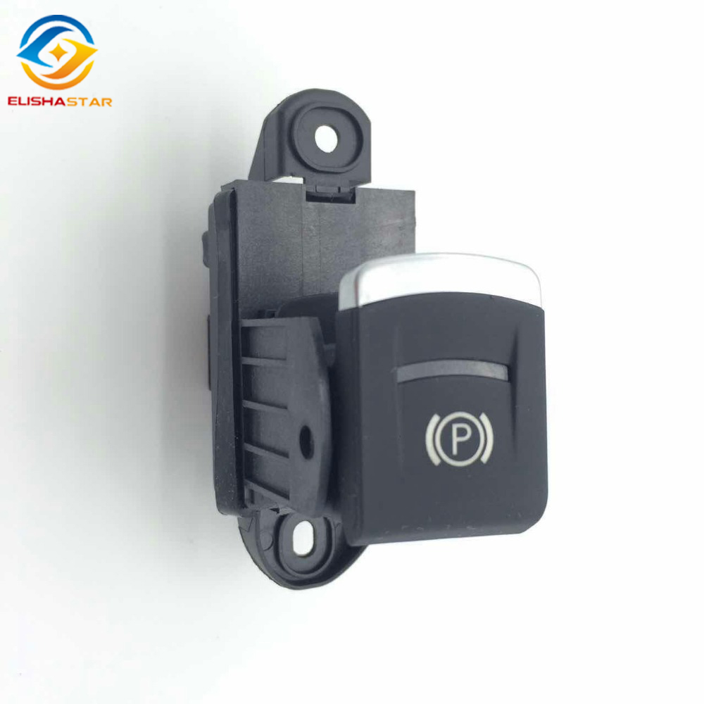 ELISHASTAR New Electronic Parking Brake Handbrake Switch Button for A6 C6 A6 Allroad Quattro S6 RS6 4F1927225B 4F19 272 25B