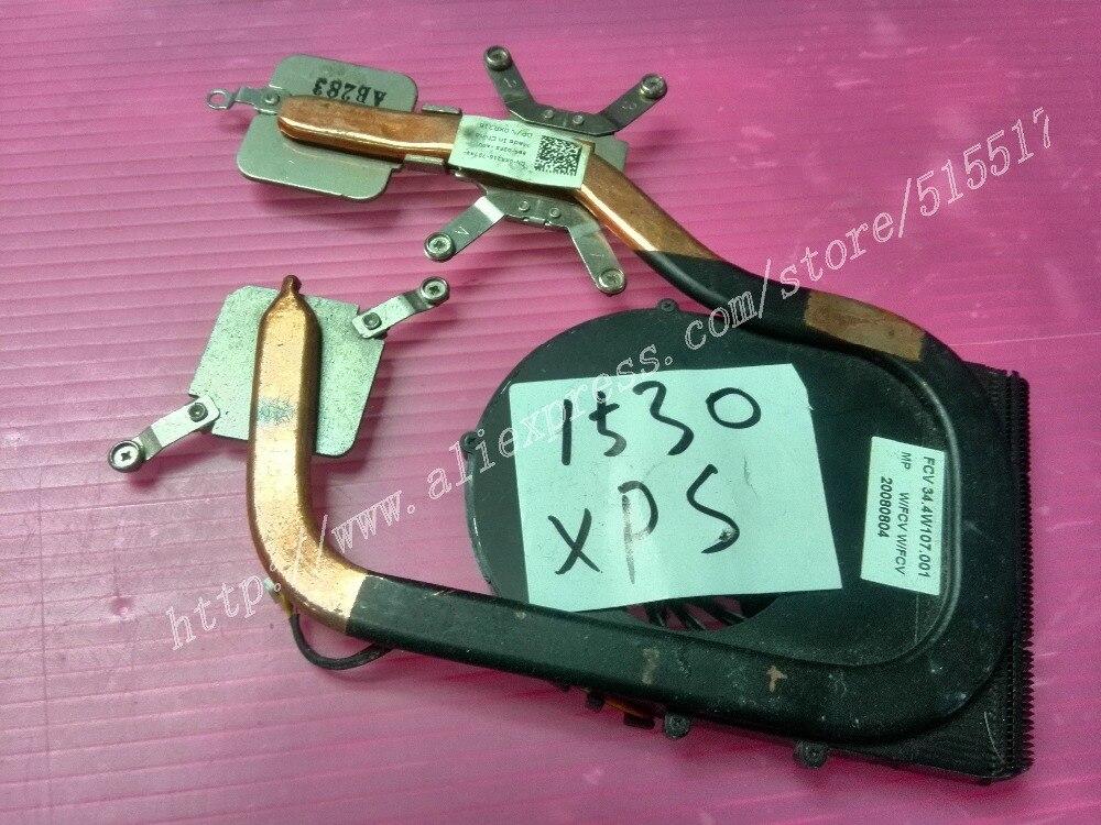 Free Shipping For Dell XPS 1530 M1530 XR216 Laptop Cooling Heatsink PN: 0XR216 Fan Cooler метеостанция vitek vt 6402bk