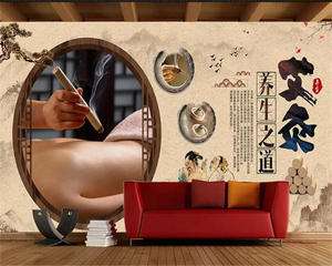 Beibehang Background Wallpaper Mural Decorative Moxibustion Customized Health 3d Vintage