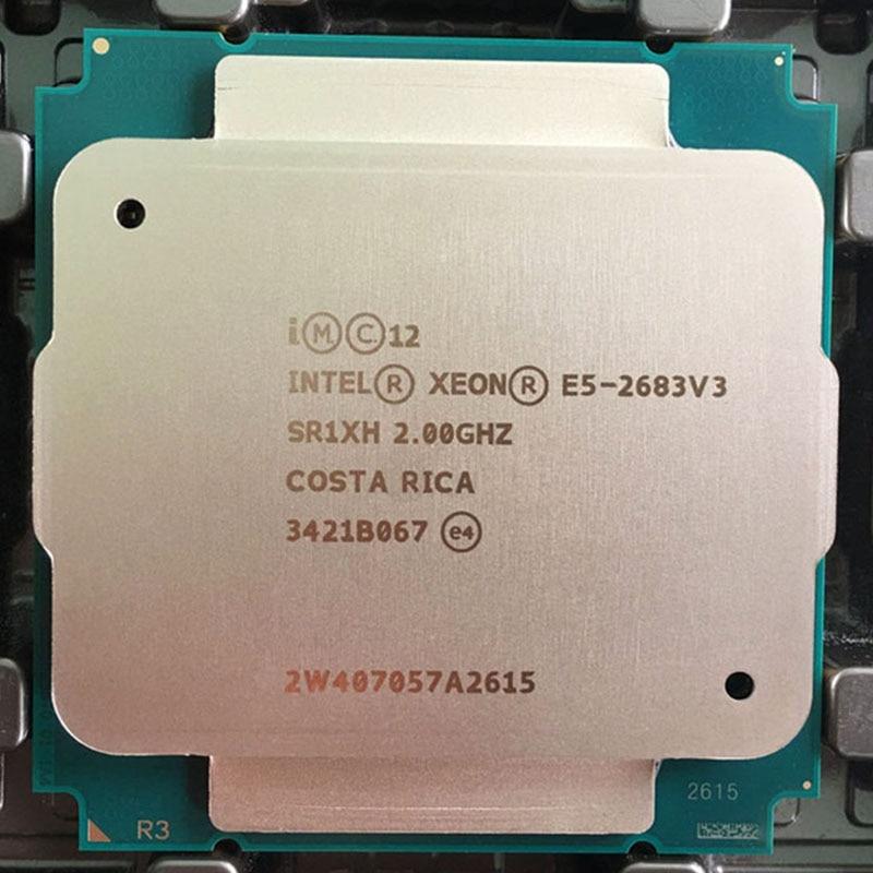 Xeon E5-2683v3 CPU 2.00 GHz 14-Core E5 2683 V3 PROCESSEUR 2683V3 DDR4-2133 FCLGA2011-3 DPT 120 W Xeon e5 v3 1 an de garantie