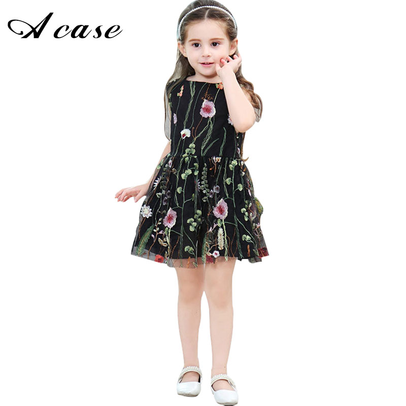 Kids 1 2 3 4 5 6 7 8 Years Sleeveless Lace Elegant Girl Embroidery Floral Vest Dress Clothes Backless Gauze Mesh Summer Dresses агхора 2 кундалини 4 издание роберт свобода isbn 978 5 903851 83 6