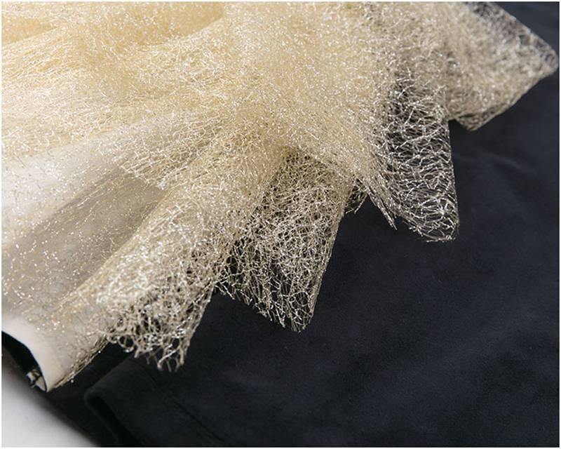 Image 4 - Платье с золотым бантом для девочек; коллекция 2019 года; детские черные бархатные платья для девочек; платье принцессы для вечеринки и свадьбы; детские летние платья-in Платья from Мать и ребенок