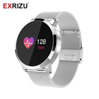 EXRIZU Q8 Sport Fitness Wearable Devices Color Touch Screen Smartwatch Smart Watch IP67 Waterproof Smart Bracelet for Men Women