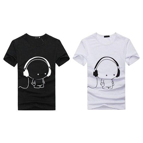 Arrival Men Summer Fashion Short Sleeve Cartoon Print T-Shirt Round Neck Slim Fit Top Fast Shipping 5