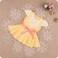 baby dress 2017 summer floral pearls baby girls dress princess infant dresses baby clothing with sashes 3 color