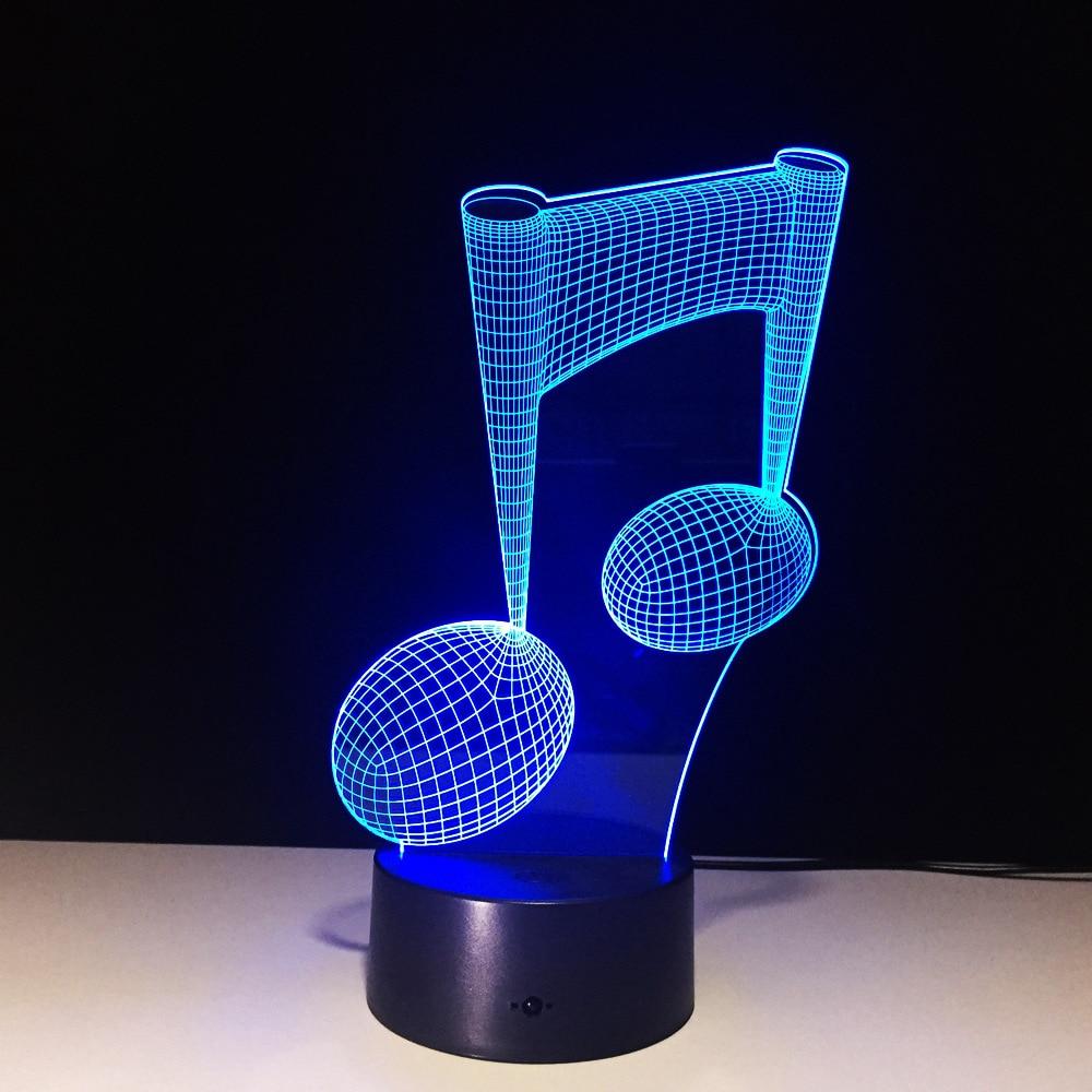 Note pattern 3d Lamp Night Light Power Bank Led Night ...