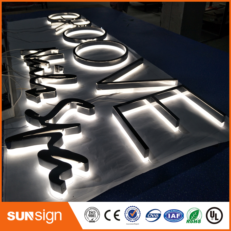 3d Decorative Backlit Led Metal Letter Sign