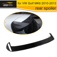 Car Styling Carbon Fiber Rear Roof Spoilers Wing boot lip for VW Golf MK6 2010 2013