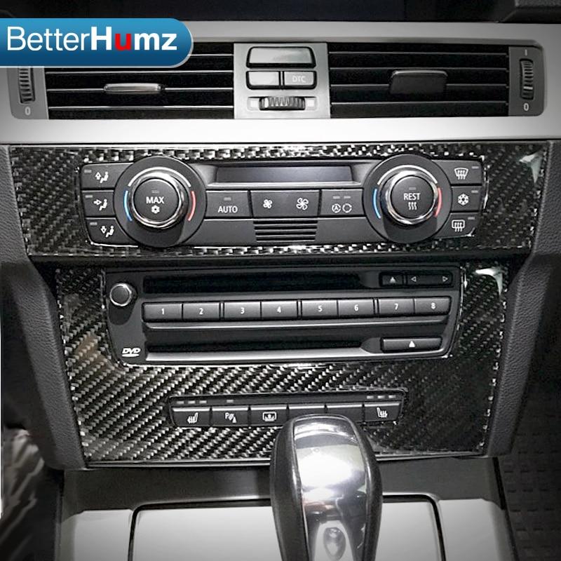 For bmw e90 e92 e93 Interior Trim Carbon Fiber Air conditioning CD control panel decoration Car