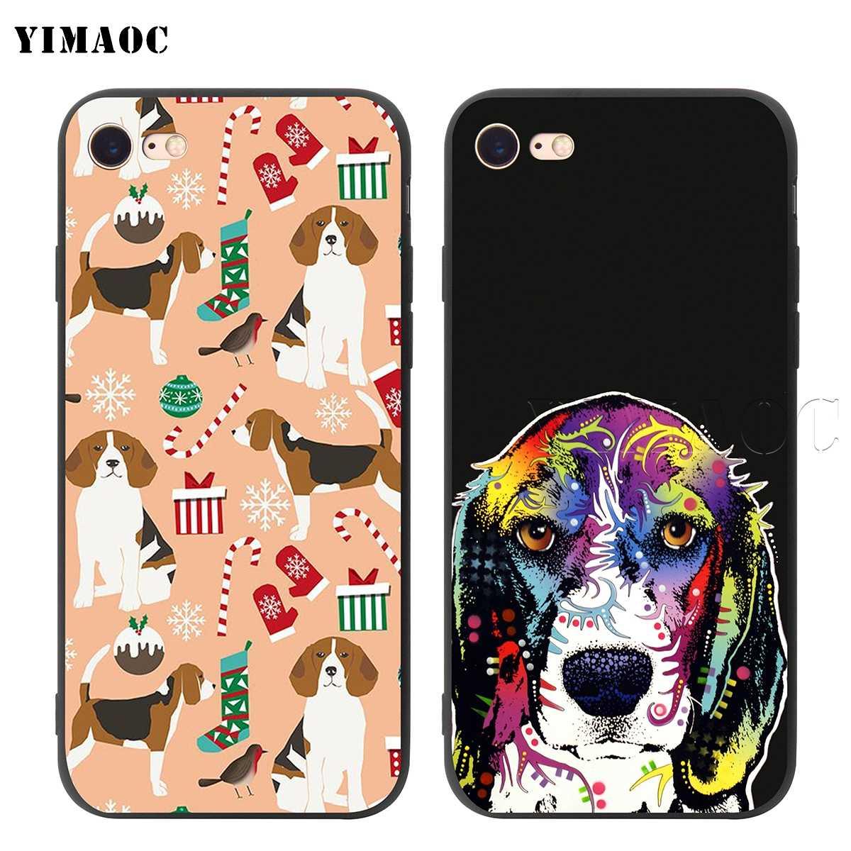 YIMAOC ビーグル犬 Iphone 5 11 プロ XS 最大 XR × 8 7 6 6S プラス 5 5S 、 SE