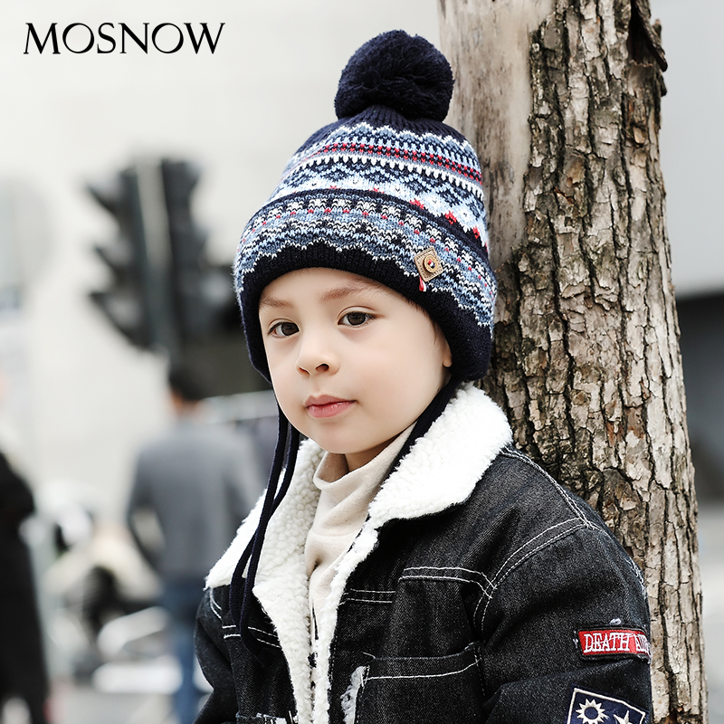Caps Children Boy Girl Lovely Cotton Brand New High Quality Fashion 2019 Winter Knitted Hats Skullies Beanies #MZ848