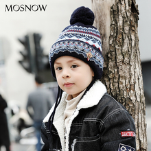 MOSNOW Caps Children Boy Girl Lovely Cotton Brand New High Quality Fashion 2018 Winter Knitted Hats Skullies Beanies #MZ848