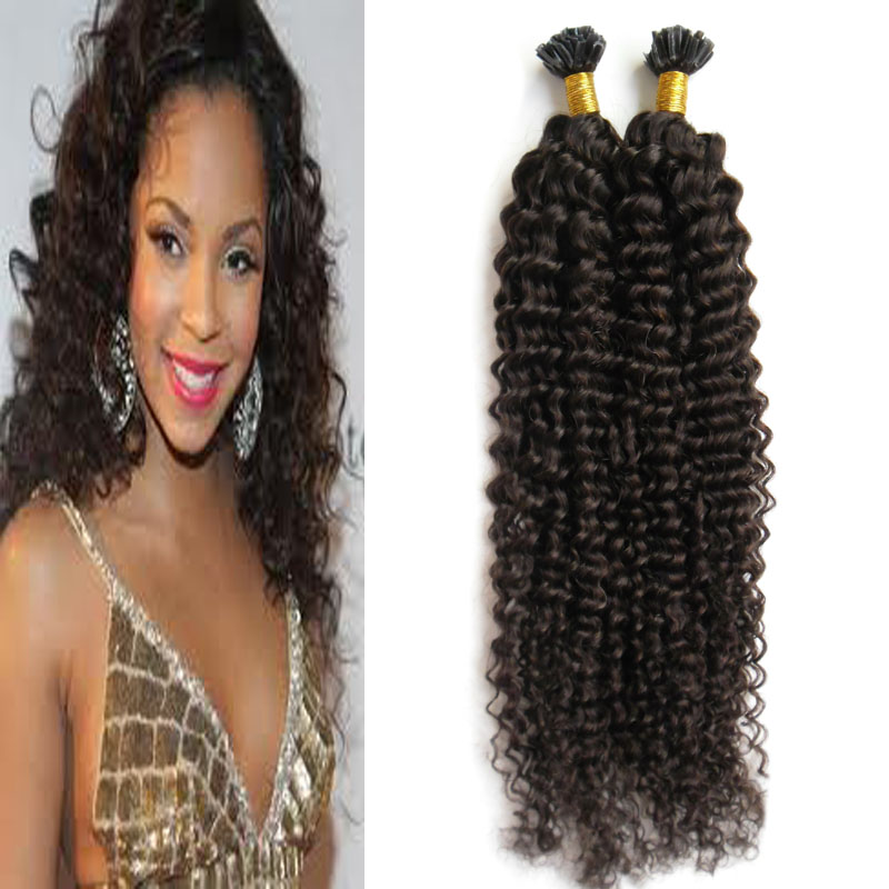 Pre Bonded Hair Extensions Curly Natural Hair On Capsules 100g Kinky