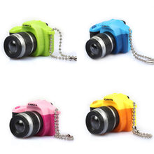 Camera keychains Fancy Fantasy Creative With Sound Flashlight Key Bag Accessories Camera KeyChains Kids Digital Camera Toy(China)