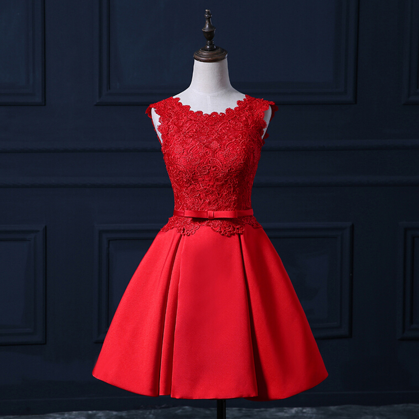 Aliexpress Com Buy New Design Simple But Elegant Short: 2017 New Design Evening Dresses Elegant Short Real Red