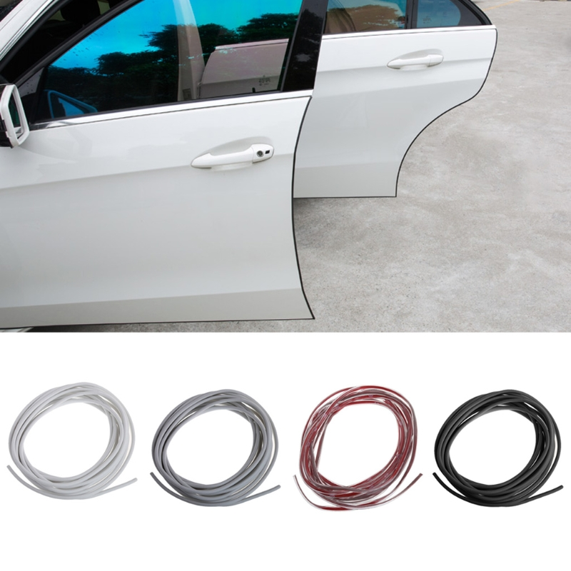 Car Anti Collision Side Door Edge Guard Rubber Bumper Protection Sticker Strip 5m Styling Mouldings Auto door decorative strip 4 x car door protector side edge scrape strips guard sticker auto door bumper edge guards sticker car scratch protection tape