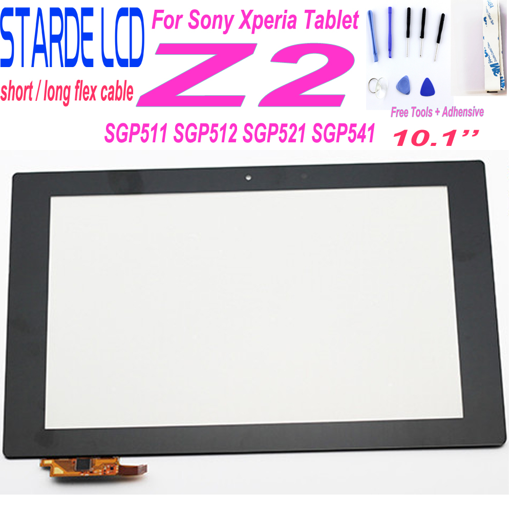 STARDE Replacement New For Sony Xperia Tablet Z2 SGP511 SGP512 SGP521 SGP541 Long / Short Cable Touch Screen Digitizer 10.1