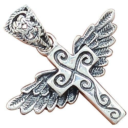 Lovegem Anjo cruz Pingente de Prata Esterlina 925, AP2319