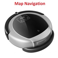Automatic Vacuum Cleaner Robot B6009, 2D Map & Gyroscope Navigation,Memory,Low Repetition,Virtual Blocker,UV Lamp,Weter Tank(China)