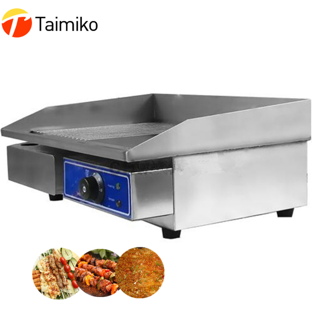Restaurant equipment for sale commercial stainless steel electric griddle machine home electric contact grill with thermostat цена 2017