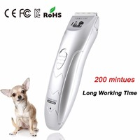2017 Professional Rechargeable Dog HairTrimmer Pet Dog Hair Clippers Pet Cats Sharp Haircut Ceramic Blades Hair Repair Shaver