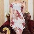 40 конструкций новый летний весной 2016 мода женщины платья Большой размер платья бабочка широкий новинка печать девушка свободного покроя топы 3xl 4xl