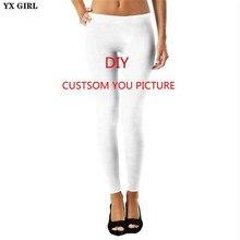 YX GIRL 3D Print DIY Custom Design Women Leggings Casual Pants plus size S-3XL Wholesalers For Drop Shipping
