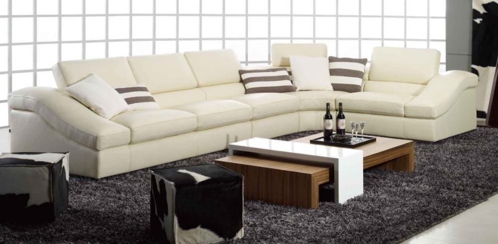 ko ægte læder sofa stue hjemmemøbler sofa sofaer stue sofa sektion - Møbel - Foto 5