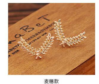 XZ 027 1 Pair Korea Setelan Baju Kerah Jarum Logam Tiga Dimensi Gandum Kecil Bros Pasangan Kerah Gesper Aksesoris