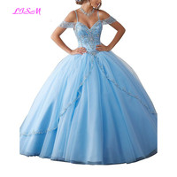 Luxury Crystals Ball Gown Quinceanera Dresses Sweetheart Long Sweet 16 Dress Princess Tulle Prom Dress Teen Girls Pageant Gowns