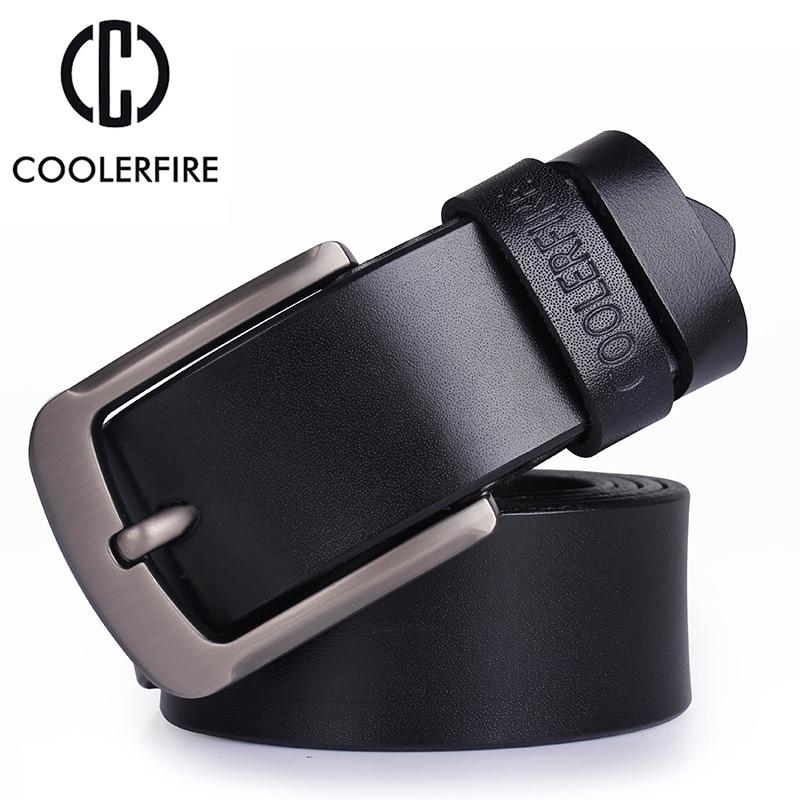 Cinturón de cuero genuino para hombres Cinturones de diseño de lujo para hombre Cinturón de hebilla de metal para hombres de alta calidad para pantalones vaqueros Cowskin Fashion Cummerbunds