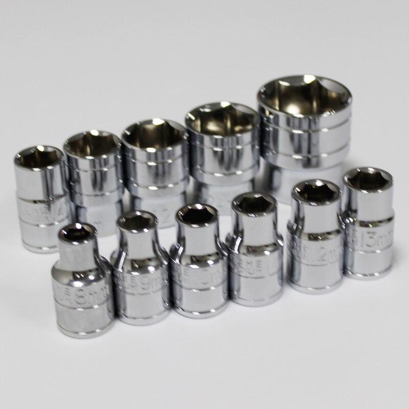 8 ~ 32mm Standardbuchse 1/2 zoll Stick Größe Mm Metrische System Verchromt Cr-v Stahl Gemacht Fortgeschrittene Technologie üBernehmen Handwerkzeuge Werkzeuge