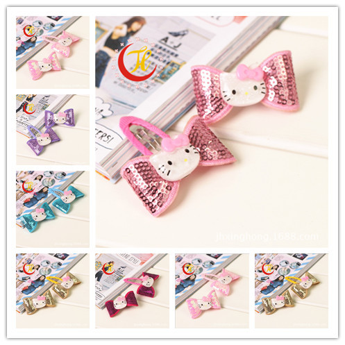 2015 hello kitty barrettes for children baby hair clips decorations for girls hair clip hairpins accessories headwear headdress 24pc hair styling braid hair snap clips for girls headwear hair ornaments black snap hairgrips hairclip barrettes hairpins clips