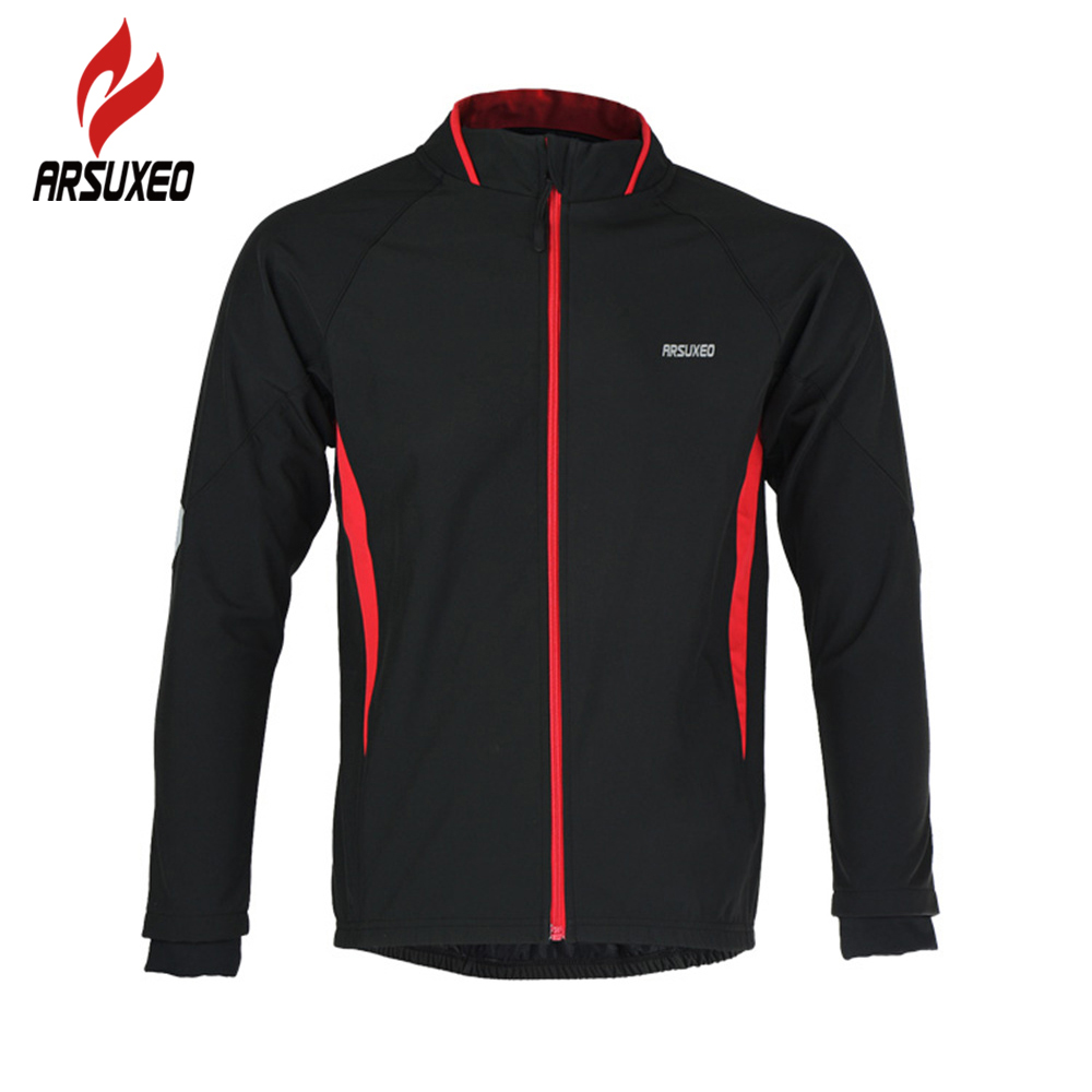 ФОТО ARSUXEO Ciclismo Sport jackets Cycling Jacket Mountain Bike Windproof Jacket Men Winter Sportswear Long Sleeve Jersey Chaqueta