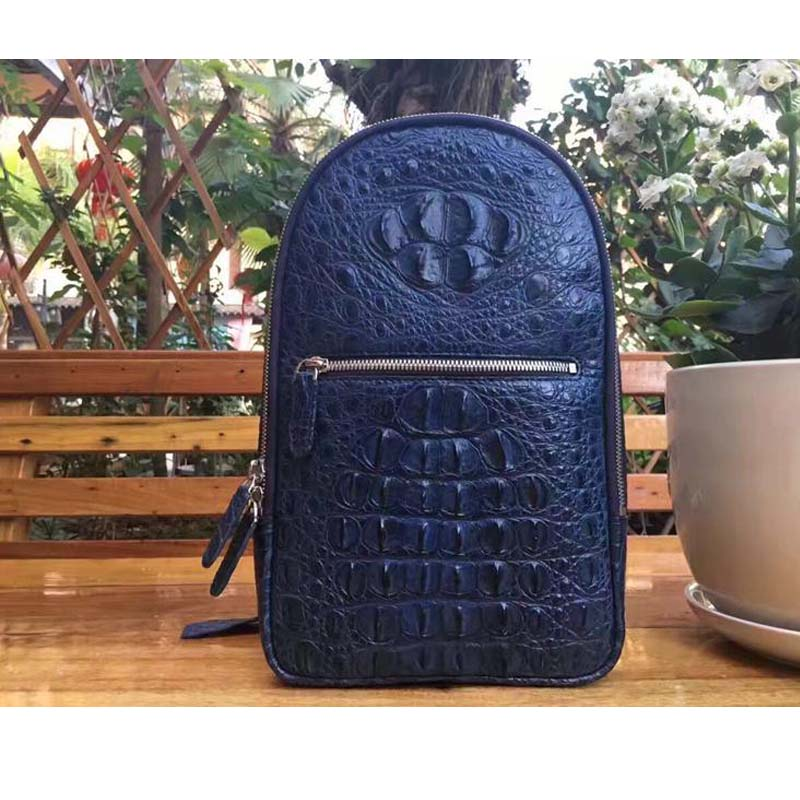 yongliang new old crocodile skull making men's personality all-match chest pack men bag