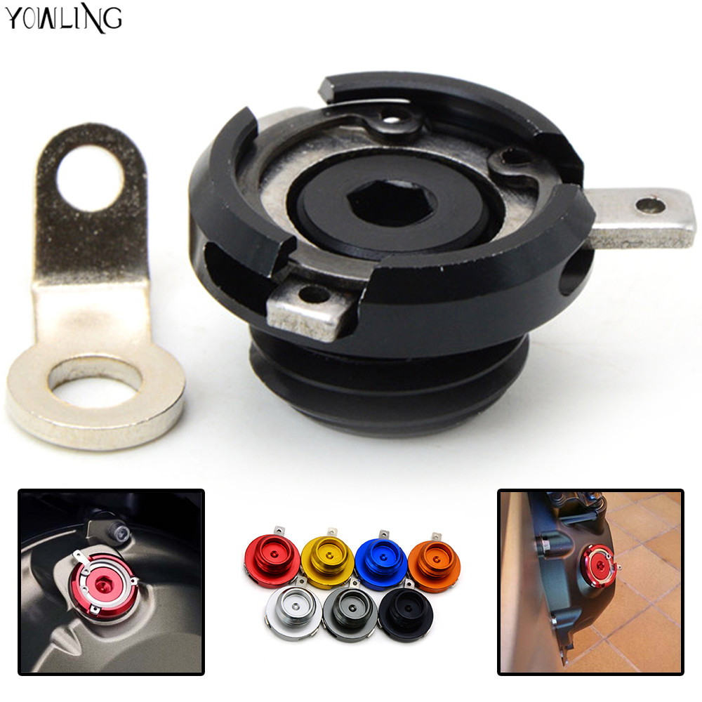 HOT Motorcycle CNC Aluminum Engine Oil Filler Cup Cap FOR honda goldwing gl1800 / hornet h/ hornet 600 / hornet cb600f MT09 aluminum water cool flange fits 26 29cc qj zenoah rcmk cy gas engine for rc boat