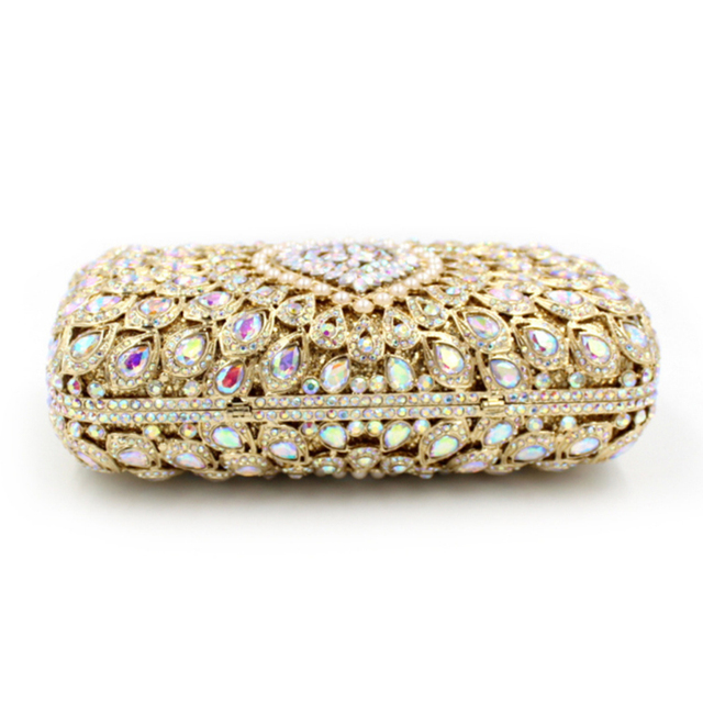 XIYUAN BRAND lady 2017 FASHION and luxury European and American Style Hollow full Diamond Clutch evening bag Crystal party bags