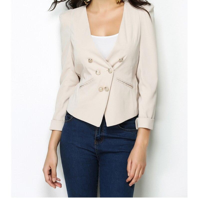 2018 NEW Spring Women Short Design Blazer OL Workwear Easy Match Double Breasted Blazer