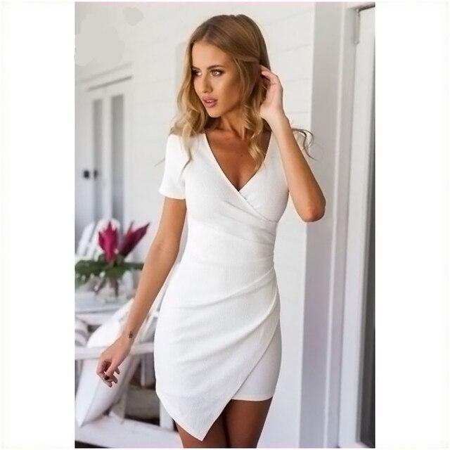 Sommer dress casual 2017 für frauen kurzarm frauen weiß dress kurzen ...